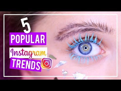 5 POPULAR INSTAGRAM BEAUTY TRENDS (DIY Feather Eyebrows, Colored Mascara, Drippy Lips, Etc)