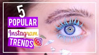 5 POPULAR INSTAGRAM BEAUTY TRENDS (DIY Feather Eyebrows, Colored Mascara, Drippy Lips, Etc) thumbnail