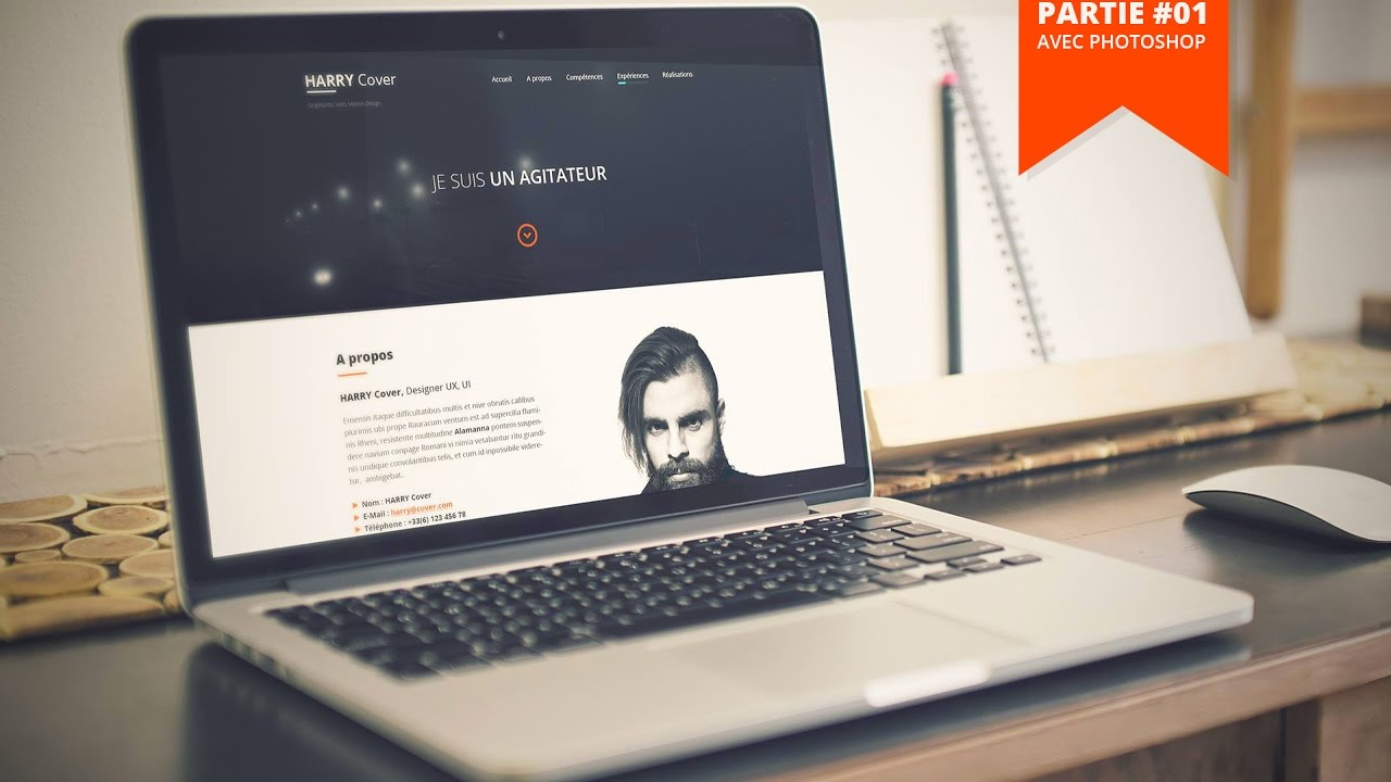 tuto web design  comment creer ton site cv    portfolio avec photoshop