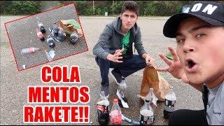 COLA + MENTOS RAKETE EXPERIMENT!! -Cihanoovic