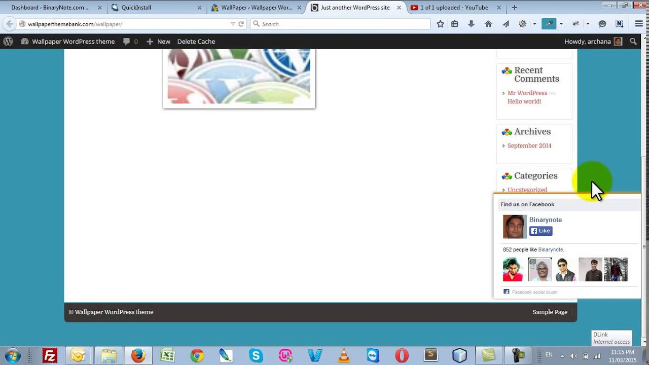 How to Install Wallpaper WordPress theme V2 - YouTube