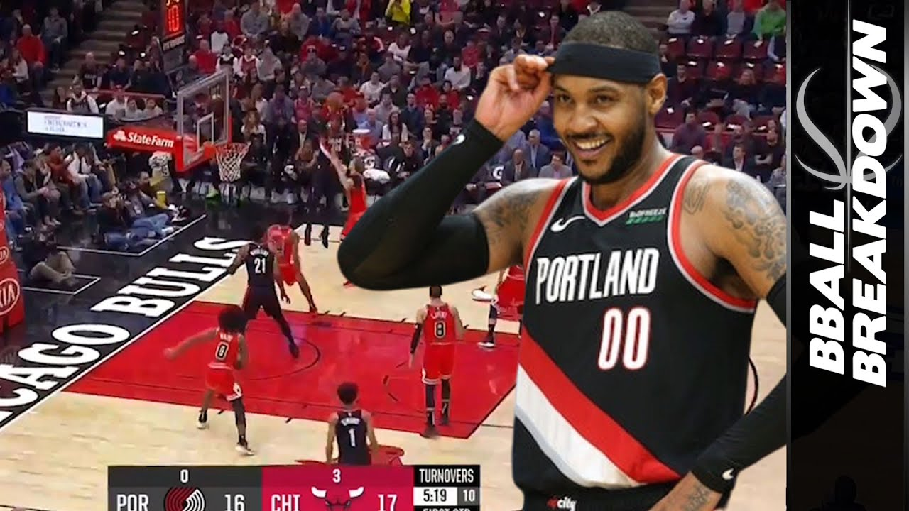 Can Carmelo Anthony Save The Trail Blazers Season?