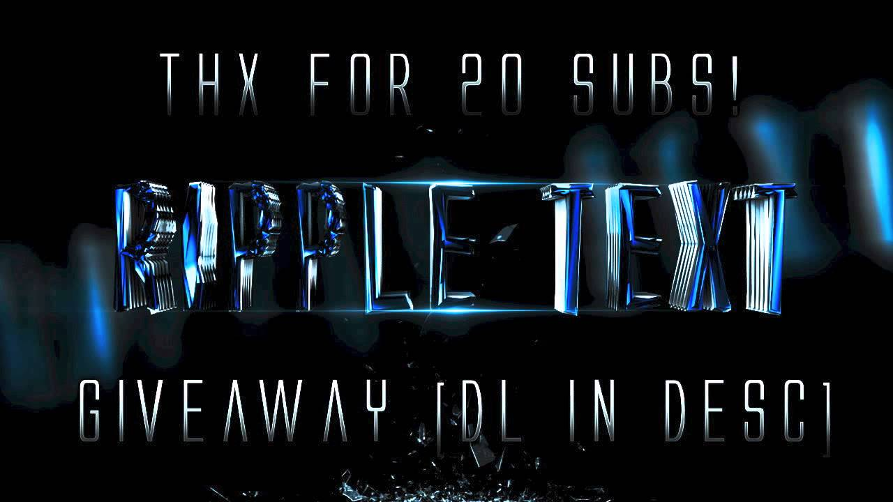 Cinema 4d Ripple Text Effect Template Giveaway! By OfficialSimplex ...