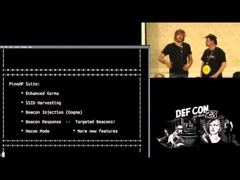 DEF CON 23 - Wireless Village - Kitchen and Kinne - Sniffin WiFi Sippin Pineapple Juice