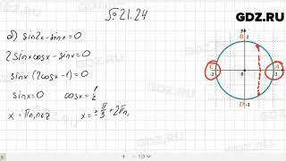№ 21.24- Алгебра 10-11 класс Мордкович