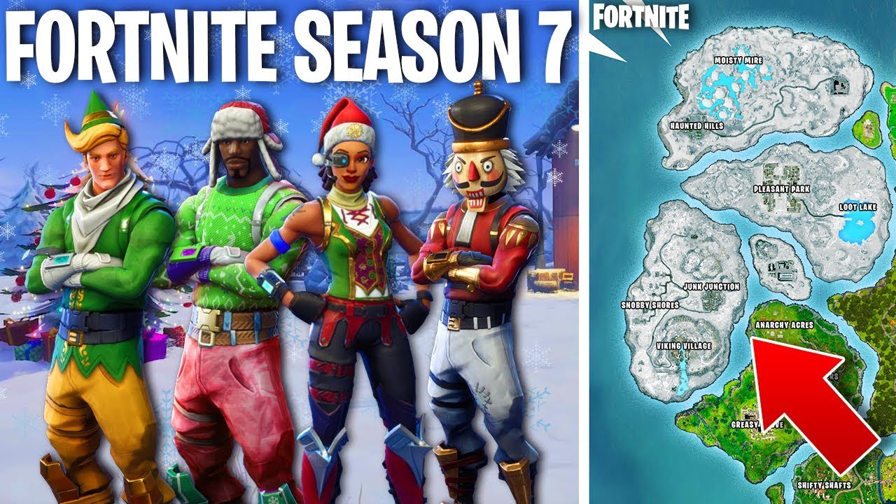 FORTNITE SEASON 7 THEME! - *NEW* Christmas Skins, Map ...