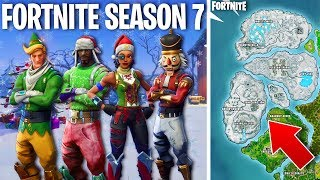FORTNITE SEASON 7 THEME! - *NEW* Christmas Skins, Map, & MORE! (Fortnite Battle Royale)