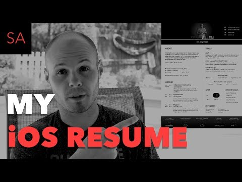 My iOS Developer Resume - Example and Review - YouTube