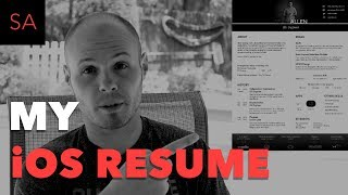 My iOS Developer Resume - Example and Review Video