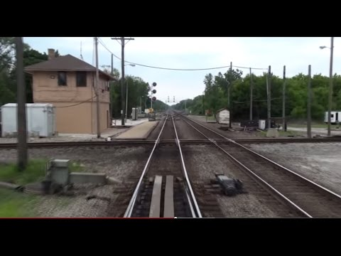(HD) Amtrak Ride: C & M Sub: Open Air: Glenview to Truesdell MP53