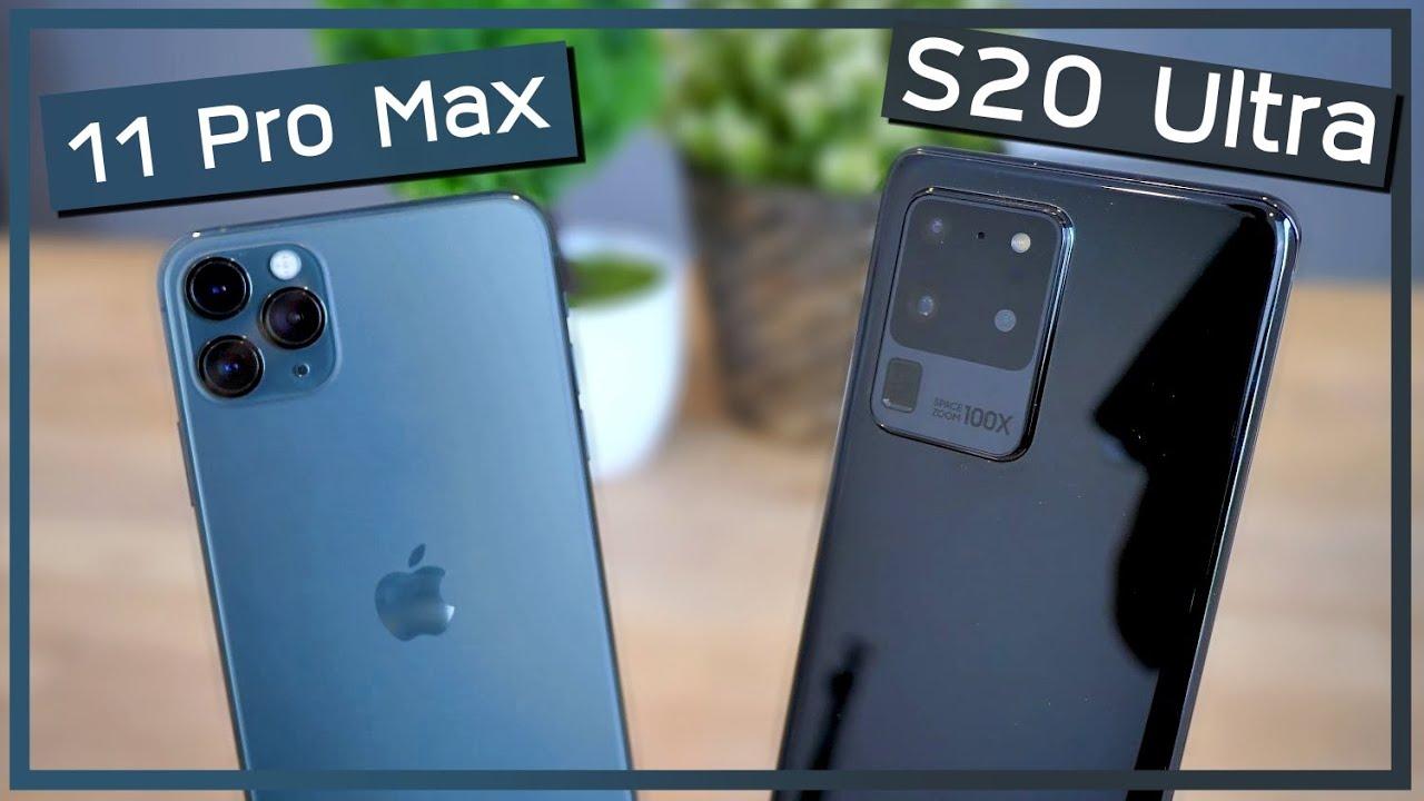 รีวิว iPhone 11 Pro Max VS Samsung Galaxy S20 Ultra 5G เทพ ...
