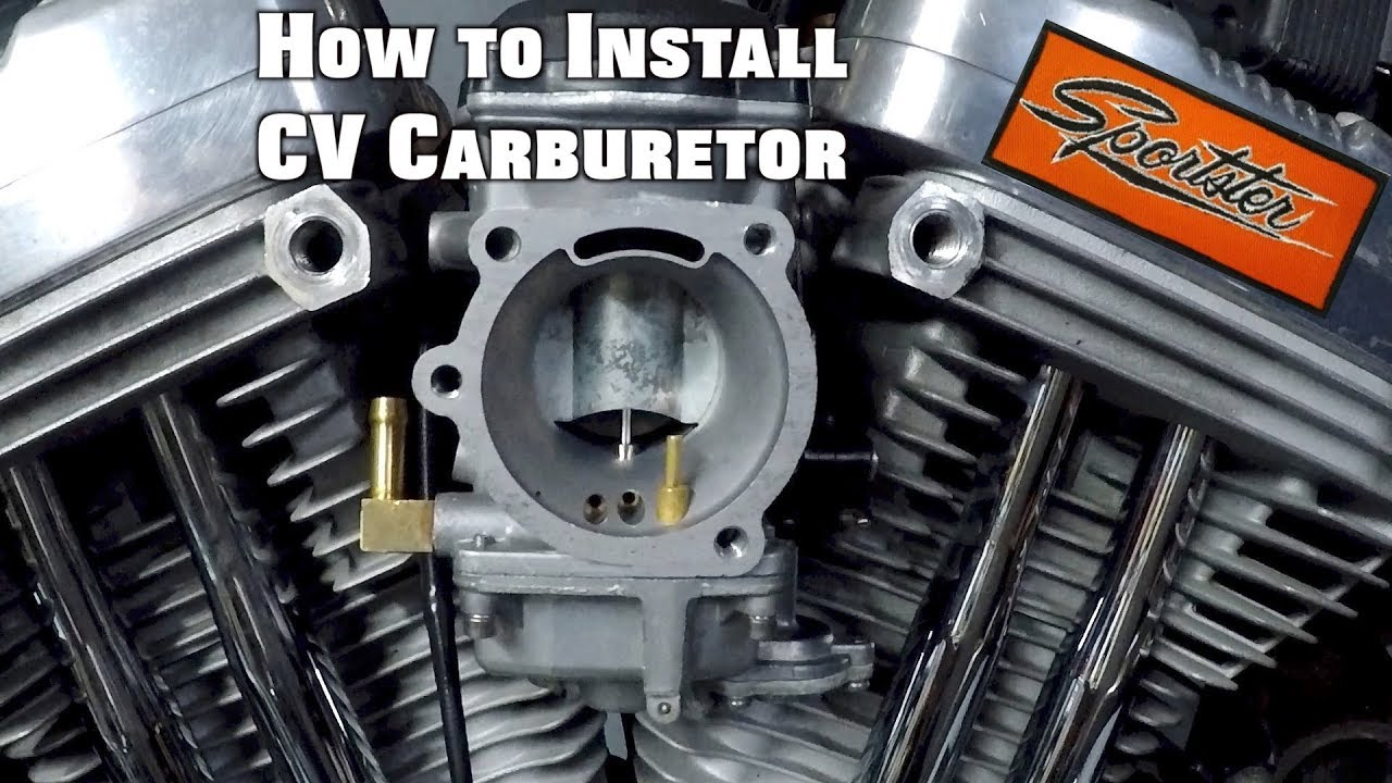 how to install sportster carburetor [ 1280 x 720 Pixel ]