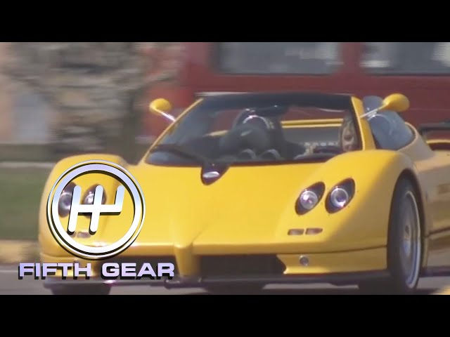 Vicki's day with the Pagani Zonda Roadster   Fifth Gear classic