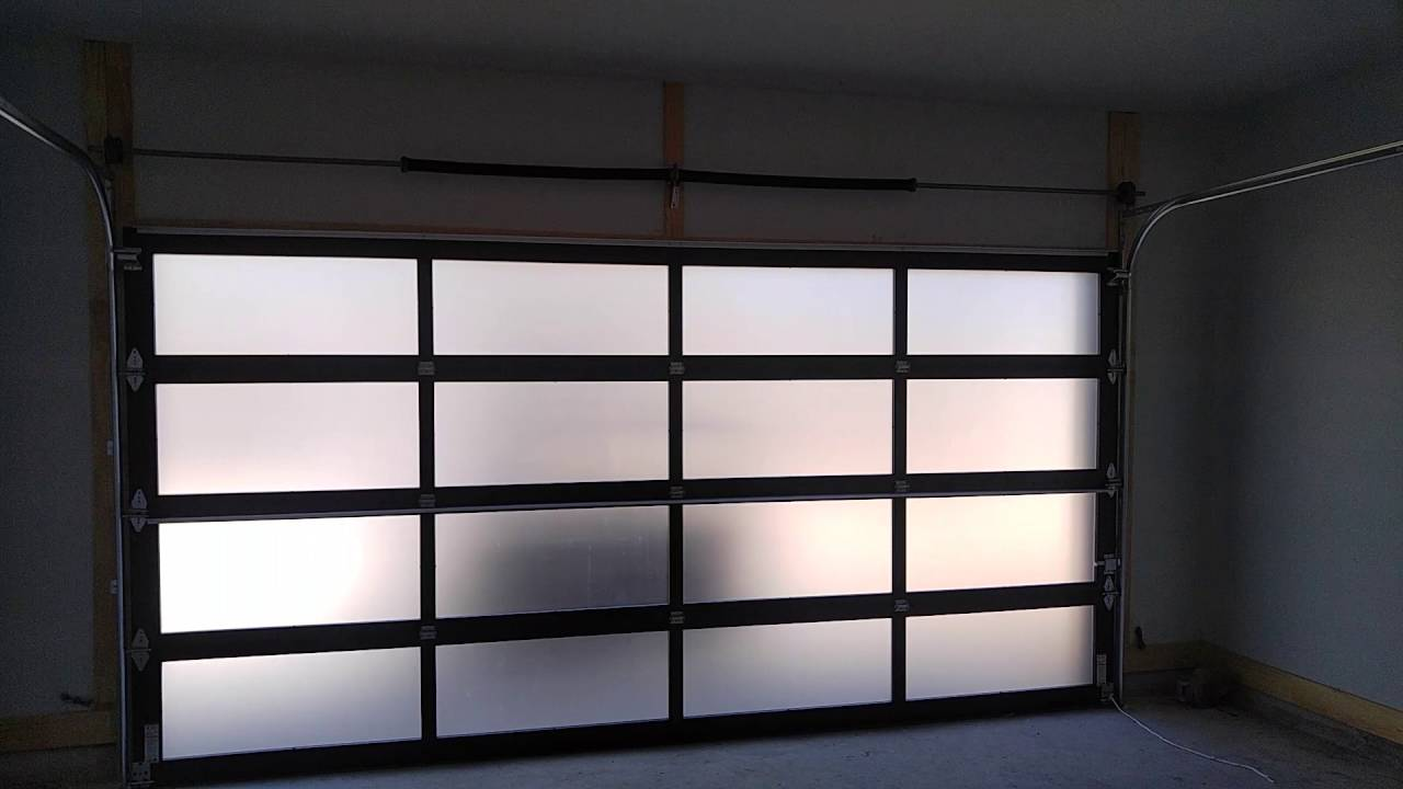Glass garage door interior - C H I Model 3295 Frosted Glass Garage Door Aluminum Modern Contemporary