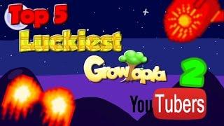 Growtopia ~ Top  5 Luckiest Growtopia YouTubers Part 2!