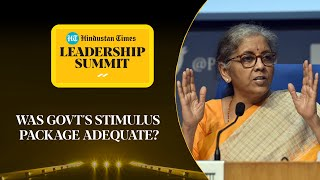 Covid stimulus & relief for middle class: FM Nirmala on measures #HTLS2020