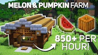 Minecraft: Automatic Melon & Pumṗkin Farm Tutorial (1.17 how to build)