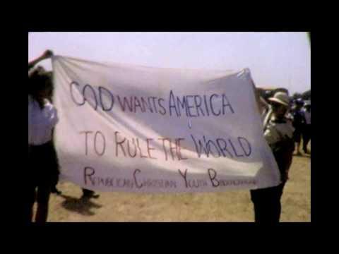 Ronald Reagan Rally in 1984 at Mile Square Park in Orange County California.