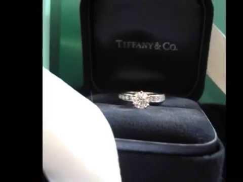 Tiffany Co Engagement Ring Wedding Band Set Tiffanys Youtube
