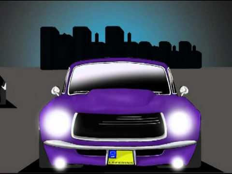 Alien Super Car Vs Muscle Car Cartoon Action Animated Youtube
