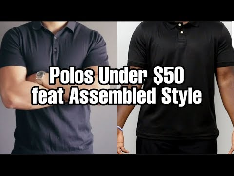 7 Men's Polo Shirts Under $50 Feat Assembled Style