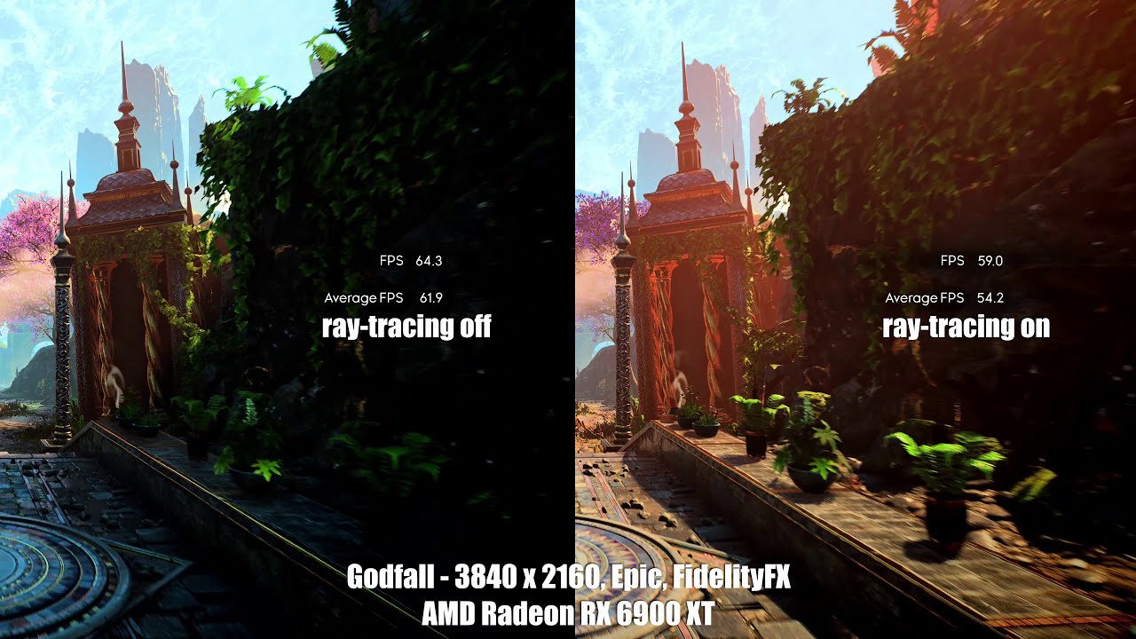 Download Godfall - ray tracing on/off comparison (Radeon RX 6900 XT test)