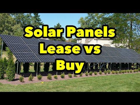 Solar Lease vs Buy