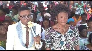 45 year old barren woman conceives without having sex through Angel Obinim.