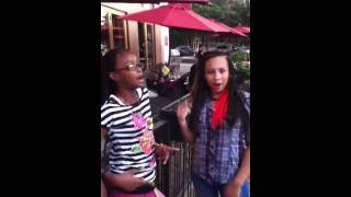Rondaya & Taityana Rapping to LOLO ( Pretty girl Bag)