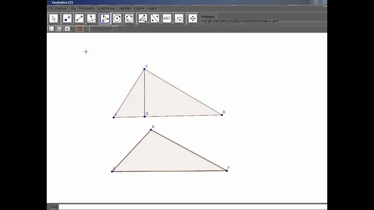 Højder i trekanter