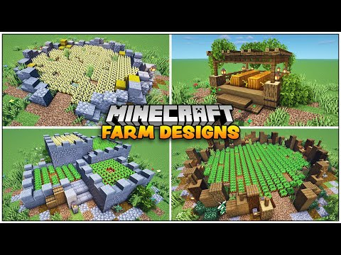 8 Quick and Easy Minecraft Farm Designs
