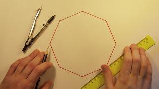 Геометрия - Построение восьмиугольника(Построение правильного восьмиугольника с помощью циркуля и линейки., 2015-08-01T11:13:59.000Z)