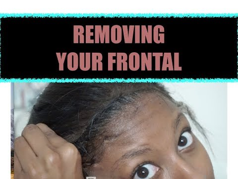 HOW TO REMOVE YOUR FRONTAL AFTER USING GHOST BOND GLUE