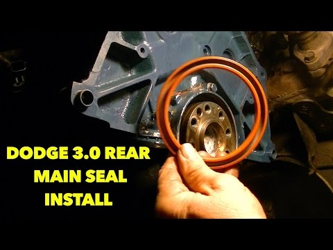 Repeat DIY Rear Main Seal Replacement, Dodge 4 7L V8 by