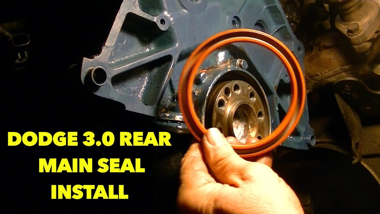 Dodge 3 0 Rear Main Seal Replacement