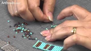 Artbeads Quick Tutorial - The Square Stitch with Cynthia Kimura