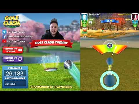 Golf Clash tips, Playthrough, Hole 1-9 - ROOKIE - TOURNAMENT WIND! Festive Cup Tournament!