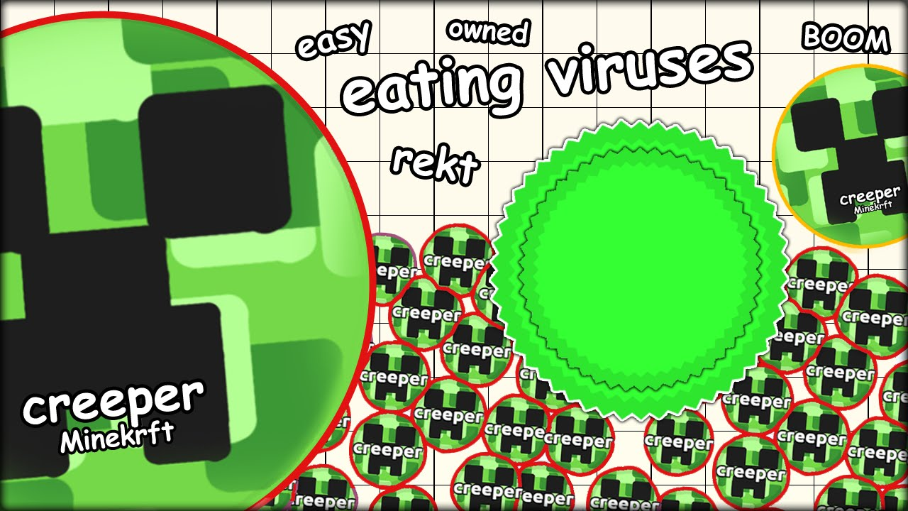 eating agario viruses to get free food 500 mass the most addictive