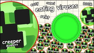 EATING AGARIO VIRUSES TO GET FREE FOOD +500 MASS (THE MOST ADDICTIVE GAME EVER - AGAR.IO #15)
