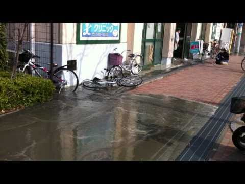 Saiwaicho Chiba City 1 Minute after the Earthquake March 3 2011 Part 1