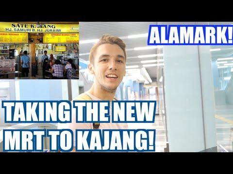 TRYING THE NEW MALAYSIAN MRT! (KAJANG SATAY!)