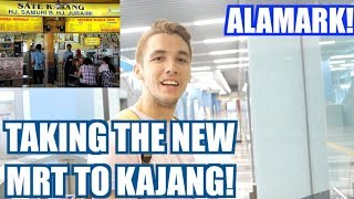 TRYING THE NEW MALAYSIAN MRT! (KAJANG SATAY!)