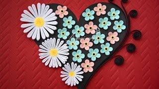Quilling Valentine Flower Heart Tutorial