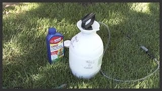 How to apply lawn weed killer(How to mix and apply lawn weed killer. Weed killer used is Bayer All-In-One lawn weed killer concentrate, but is similar to Weed-B-Gone and Weed-A-Lawn., 2012-07-28T06:28:19.000Z)