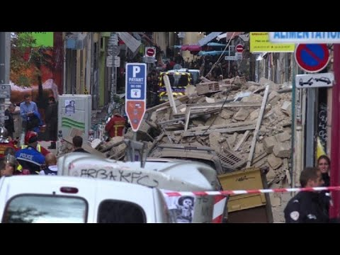Rescuers search rubble after buildings collapse in Marseille
