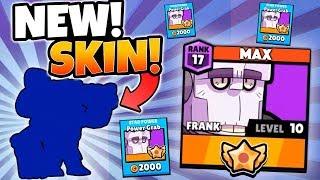 BUYING NEW BRAWLER SKIN! u0026 MAXING FRANK! | Brawl Stars | MAX FRANK HIGH TROPHY GAMEPLAY!