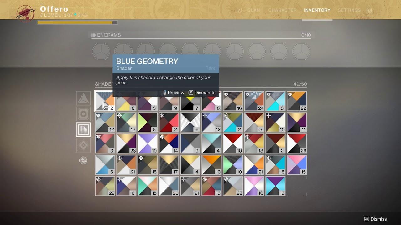 Destiny 2 Macro to auto dismantle shaders