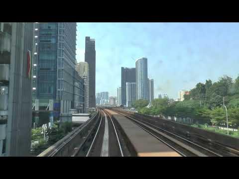 MALAYSIA AUTOMATED LRT IN KUALA LUMPUR FEB 2018