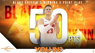 Blake Griffin's Game Winning 50 Points Destroy Sixers