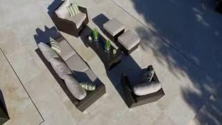 Moda Furnishings Rattan Garden Furniture: Zen 4 Rattan Garden Sofa Set